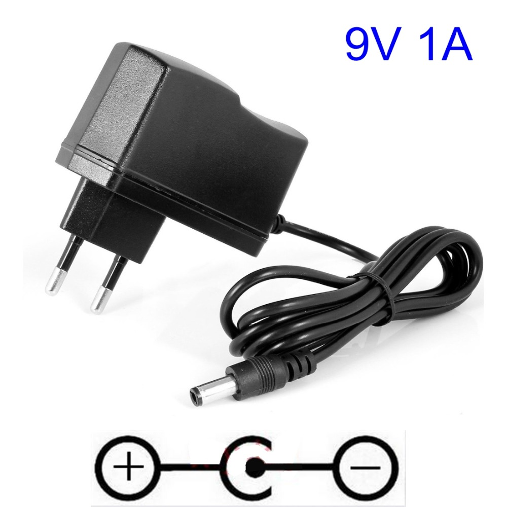 9v 1000ma 1a ac adaptor charger 9v switching power supply for guitar foot pedal effect adapter