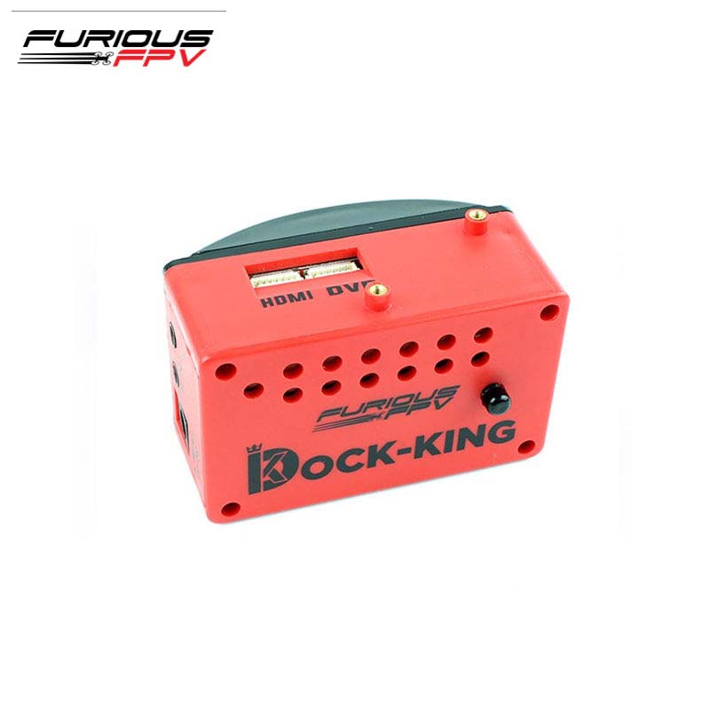 FuriousFPV Dock-King FPV Ground Station Built-in OSD & Warning Buzzer With Dual AV Output Ports For RC Models Multicopter Parts