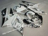 7 gifts custom for 2005 suzuki gsxr 1000 fairings K5 2006 GSXR 1000 fairing 05 06 glossy white black Dw51