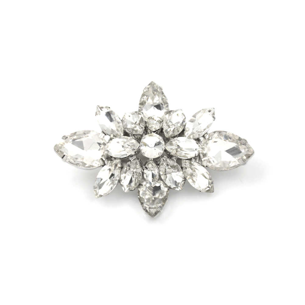 1 adet Diy gelin kristal elmas ayakkabı tokaları ayakkabı yüksek topuk pompa aksesuarları çiçek takılar moda düğün dekorasyon toka