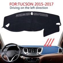for Hyundai Tucson 2016 2017 2018 TL Dashboard Mat Cover Pad Shade Cushion Non-slip Interior Accessories Car Styling Stickers