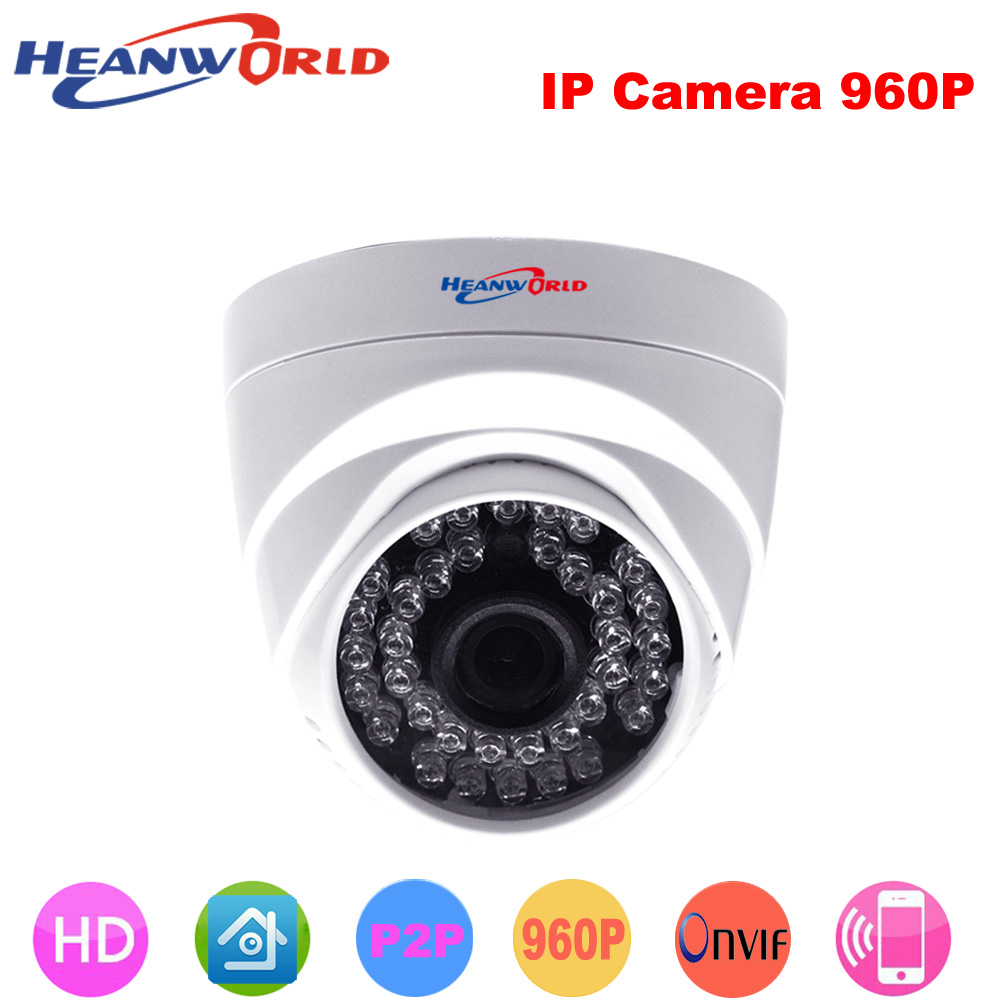 Heanworld 960P dome camera mini 1.3MP IP Camera hd with Night Vision ONVIF CCTV Security Camera Network home IP Cam indoor mini ip camera 960p hd network cctv hd home dome security surveillance ip ir camera network ip camera onvif h 264