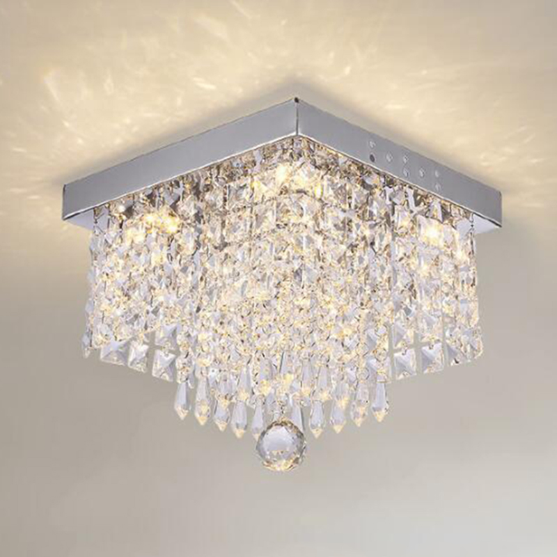 Fashion Square Crystal Led Chandeliers LED Lamps Chandeliers Restaurant Hallway High Power LED Chandelier Light