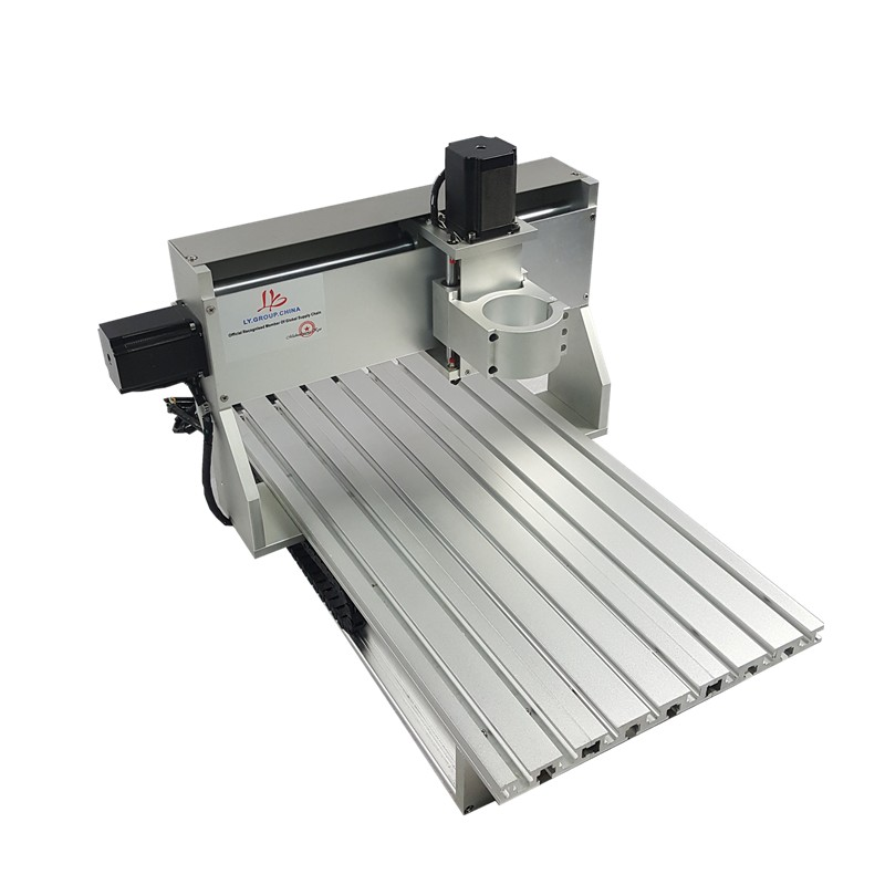 mini cnc metal cutting machine frame 3040 wood router with limit switch and ball screw suitable DIY PCB milling