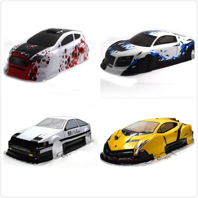 2018 Newest 1/10 Rc Car Shell Body For 1:10 Racing Car 94111 Width:190mm/195mm Multiple Options