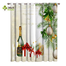 Dear House Curtains Christmas Champagne Party Decor Curtains Living Room Decor(China)