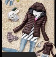 BRZFMRVL Fashion Thin Winter Women Coat Spring Autumn Lady Warm Coat Small Size Girl Warm Jacket