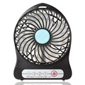 Portable Multi-functional 18650 Rechargeable Mini Handheld Desk Fan 3 Speed Modes Cool USB Fan