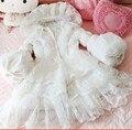 2016 new winter  Princess sweet white lace down coat  warm bubble sleeve down jacket tide female fashion custom dowm coat