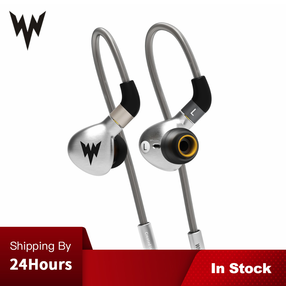 Whizzer A15 HiFi Bass Earphones Metal In Ear Earphone Dynamic Hi res Earbuds with MMCX Connector