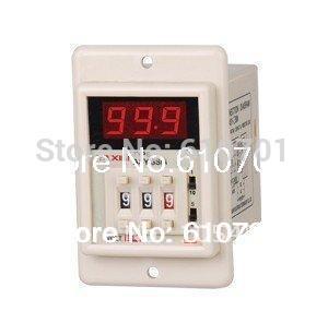 цена на 12VDC/24VDC/110VAC/220VAC digital power on time delay relay timer 0.1s-999m LED display ASY-3SM 8 pin panel installed DPDT