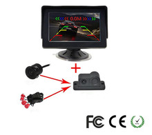 Car security alarm parking sensor reverse kit system ,Auto 4.3″LCD Monitor&All-in-one Car Rear View Parking sensor backup Camera