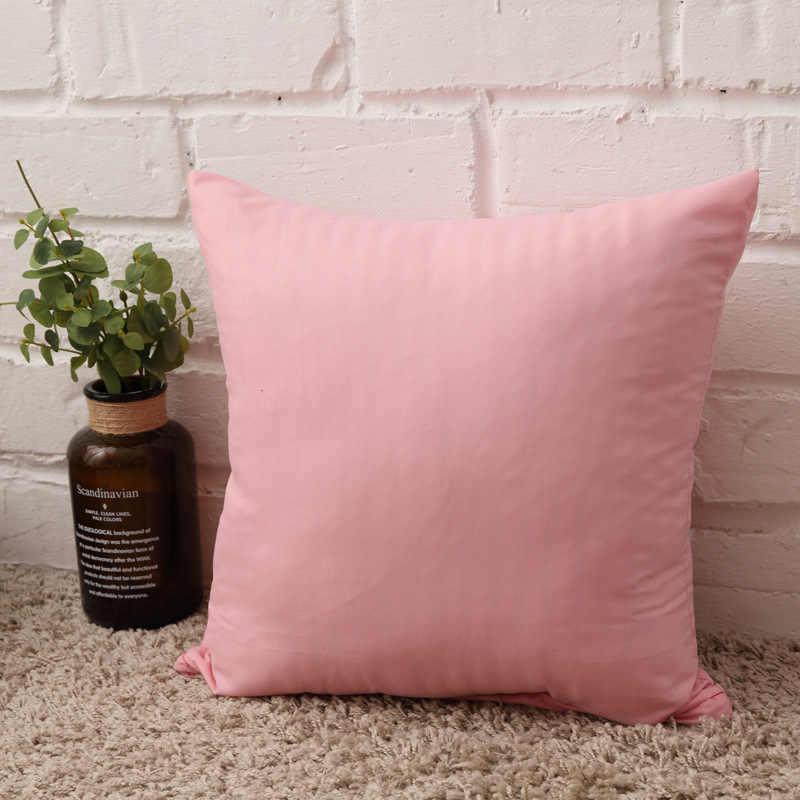 Jednolity kolor poszewka proste cukierki kolor rzuć poszewka na poduszkę na Sofa jednolity dekoracyjna poszewka na poduszkę siedzenia samochodu poszewka