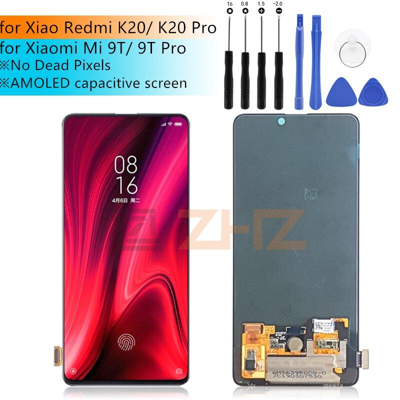 Original Amoled LCD pour Xiaomi Redmi K20 LCD K20 PRO lcd écran tactile numériseur assemblée pour Xiaomi 9 T LCD 9 T PRO pièces de réparation