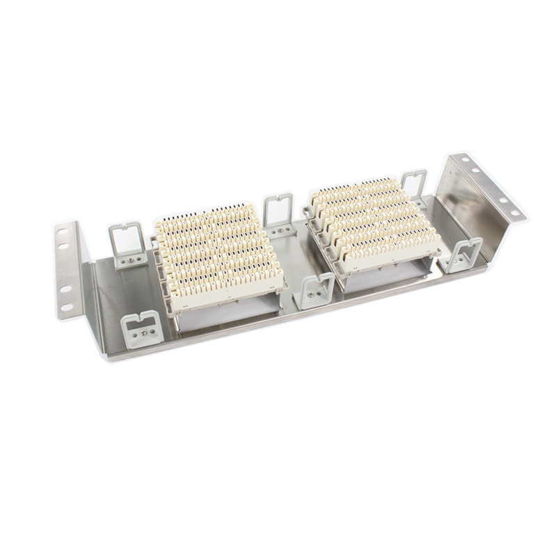 ラックステンレス鋼100組電話パッチパネルクローネモジュール音声モジュールvdf分布フレーム用インチ標準キャビネット