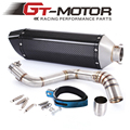 GT Motor - Motorcycle Exhaust middle pipe + Muffler for KTM DUKE150 DUKE200 DUKE250 DUKE390 2012-2014
