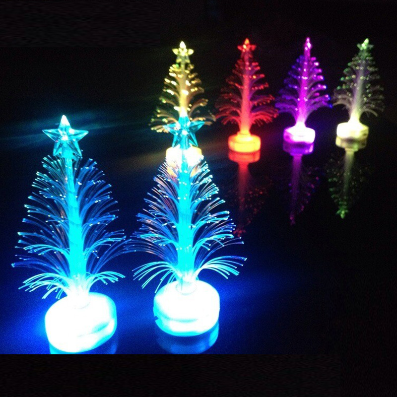 Color Changing Christmas Lights.Us 0 96 30 Off 1pcs Luminous Christmas Tree Toys Led Color Changing Christmas Decoration For Home Birthday Glow In The Dark Toys For Children In