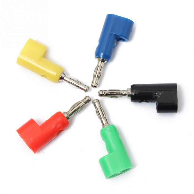 4MM Banana Plug Audio Speaker Connectors 5pcs 5 Colors 4mm Banana Plug Socket for Binding Post Test Probes Terminal Connector
