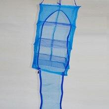 4 Layers 40 x 40 x 68cm Drying Net Fish Net Drying Rack Folding Hanging Vegetable Fish Dishes Dryer Net PE Hanger Fishing Net