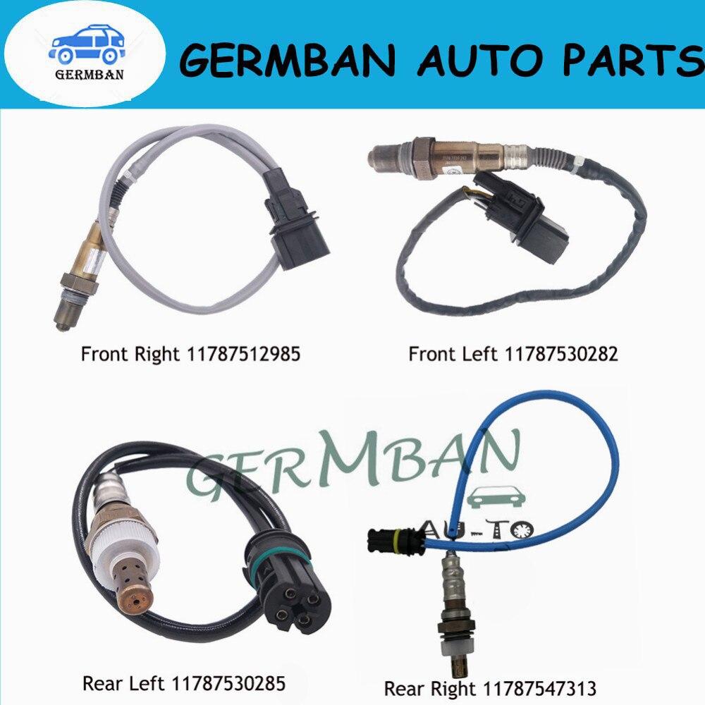 4 pièces Lambda Capteur O2 Capteur D'oxygène 11787530285 11787547313 11787530282 0258007273 Pour 2005-2012 BMW 320I X3 E85 E87 2.5L-3.0L