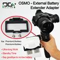 PGY OSMO DJI fantasma 3 4 Bateria Externa bateria X5 X3 zangão cardan Handheld Extender Adapter connector peças acessórios