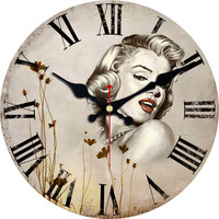 Marilyn Monroe Wall Clock Woman Design Fashion Silent Living Room Wall Decor Saat Home Decoration Watch