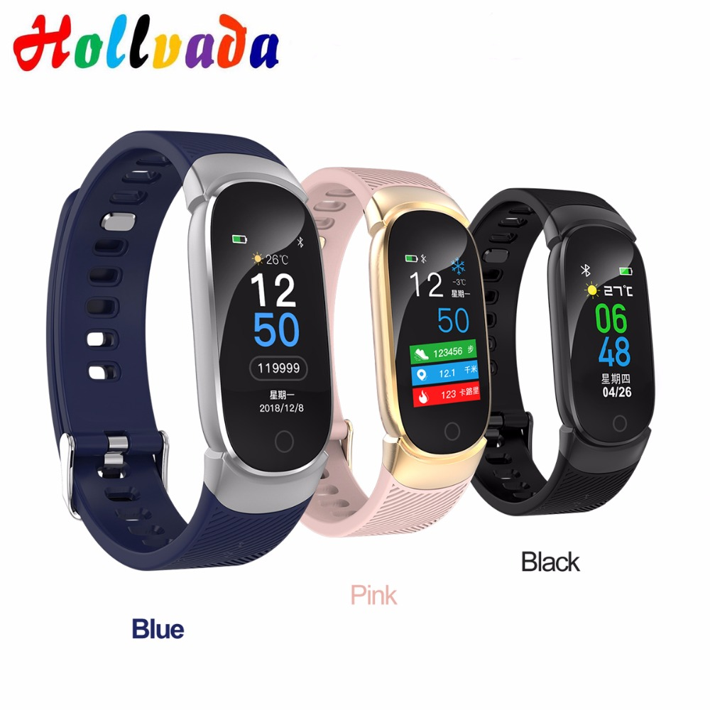 Hollvada Bluetooth Lady Smart Watch Fashion Women Heart Rate Monitor Fitness Tracker Smartwatch IP67 waterproof blood men watch