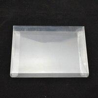 100PCS retail Transparent retail protective Plastic box Protector PET Case shell for PAL NTSC SNES CIB Game Cartridge