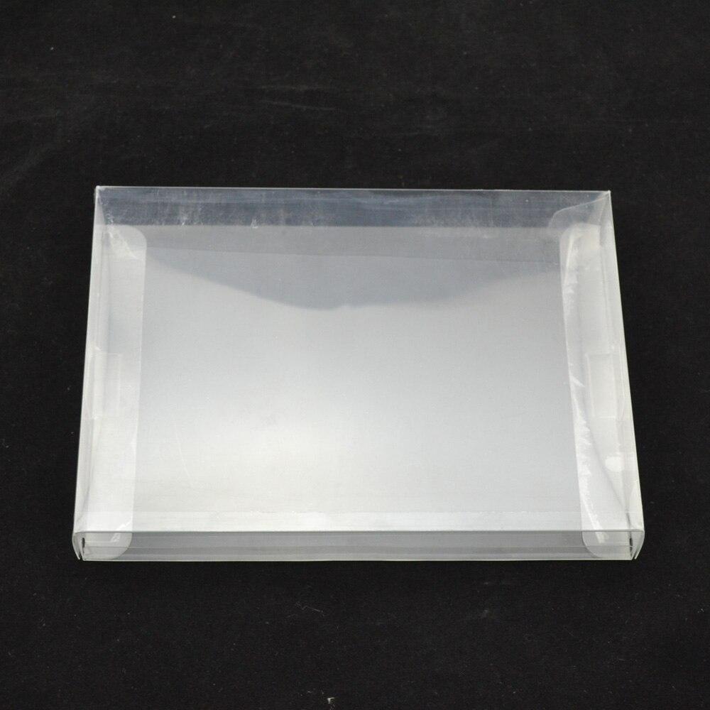 100PCS retail Transparent retail protective Plastic box Protector PET Case shell for PAL NTSC SNES CIB Game Cartridge protective plastic back case for nokia 920 transparent blue
