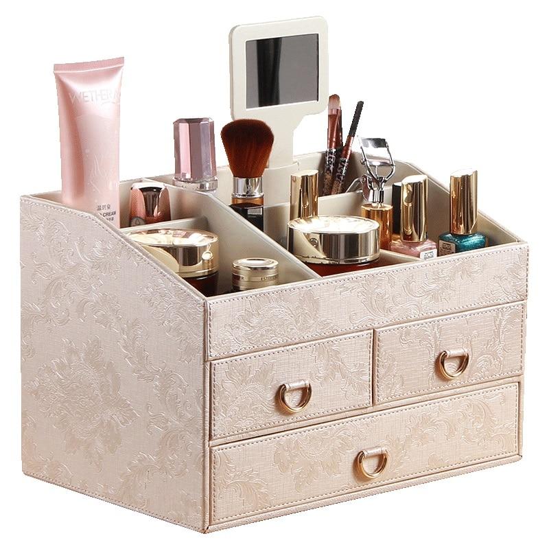 Большой Европейский косметический ящик для хранения принцессы туалетный ящик Настольный стеллаж для ящика отделочная коробка