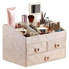 Large European cosmetic storage box Princess dressing Desktop drawer rack finishing