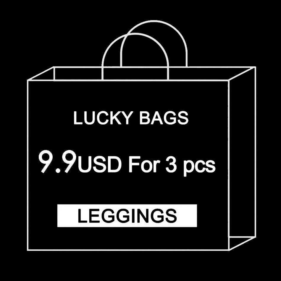 [You're My Secret] Factory $9.99 For 3 Pieces Legging Randomly Women Ankle Leggin High Qualtiy Cheapest Lucky Bag Ankle Pant
