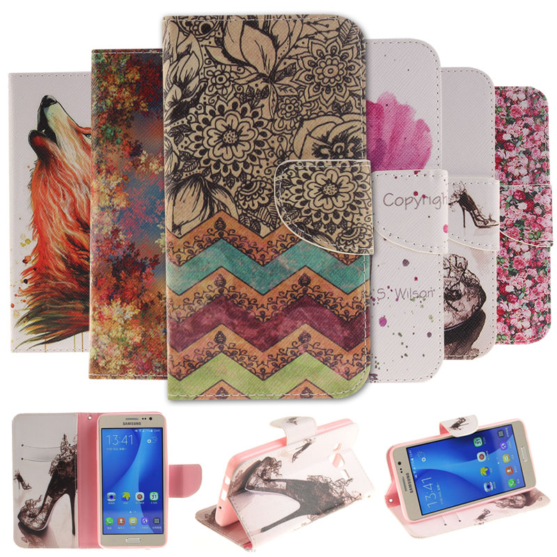 Luxury Stand Flip Leather Cover <font><b>Case</b></font> <font><b>For</b></font> <font><b>Samsung</b></font> <font><b>Galaxy</b></font> ON5 ON <font><b>5</b></font> A3 A5 J3 J5 <font><b>2017</b></font> S3 S4 S5 S6 S7 edge <font><b>Case</b></font> sFor A6 A8 Plus 2018 image