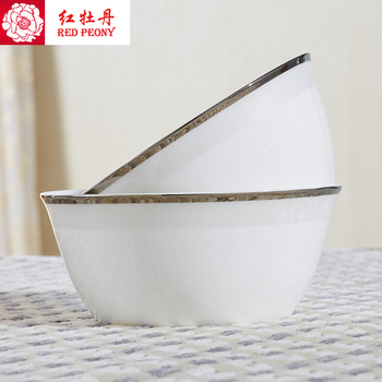 bone china tableware bowl set simple household adults eat a bowl of noodle bowl large bowl Steamed Rice 5.5 inches
