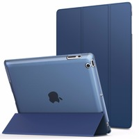 ZIMOON New Case For Apple IPad 2 3 4 Ultra Slim Tri Fold PU Leather Smart