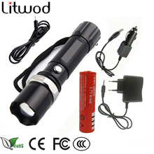 Z30 lights & lighting portable light LED Tactical Flashlight Torch lanter search XM-L L2/T6 Zoom 5 Mode self defense LED Lamp