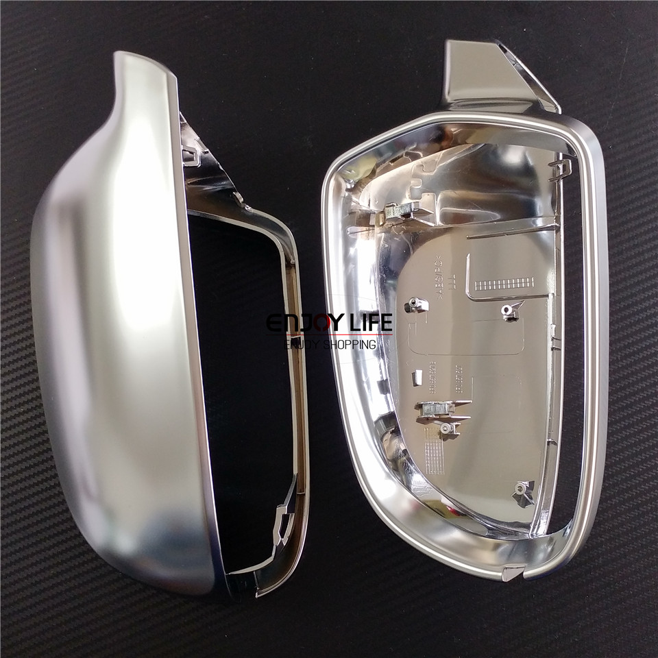 Argento Per Audi A3 S3 8 P 10-12 A4 S4 B8 8 K 2012-2015 A5 S5 Rs5 Retrovisore Auto Copertura Dello Specchio Borsette Di Ricambio Con E Senza Cambio Di Corsia