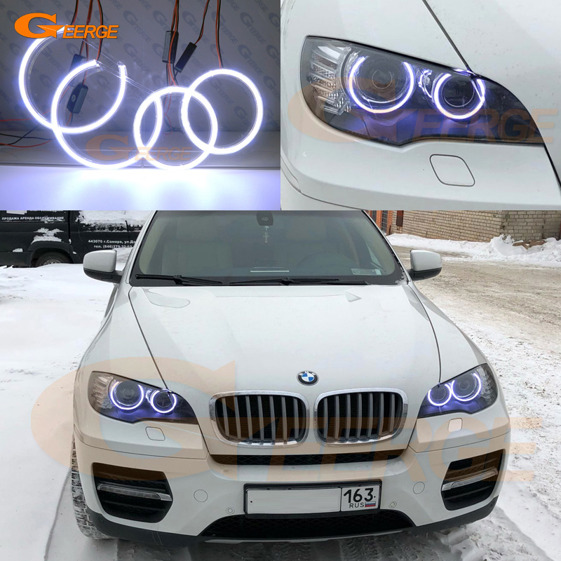 Для БМВ Х6 е71 Е72 и E70 X5M x6m за 2008-2014 Ксеноновые фары отлично Ультра-яркий освещения cob светодиодный глаза ангела комплект