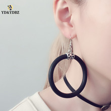 YD&YDBZ 2019 New Rubber Earrings For Women Big Drop Handmade Leather Jewelry High Quality Designer Earring Wholesale