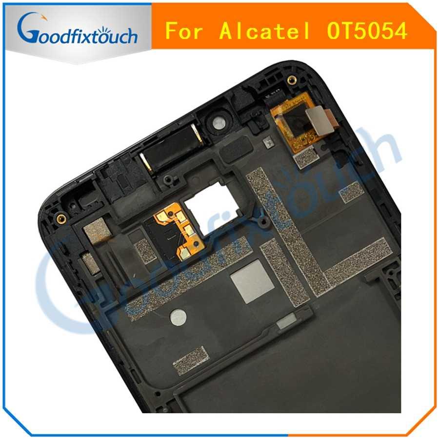 Для Alcatel One Touch Fierce XL OT5054 5054D 5054 5054N ЖК-дисплей сенсорный экран панель дигитайзер сборка с рамкой Замена