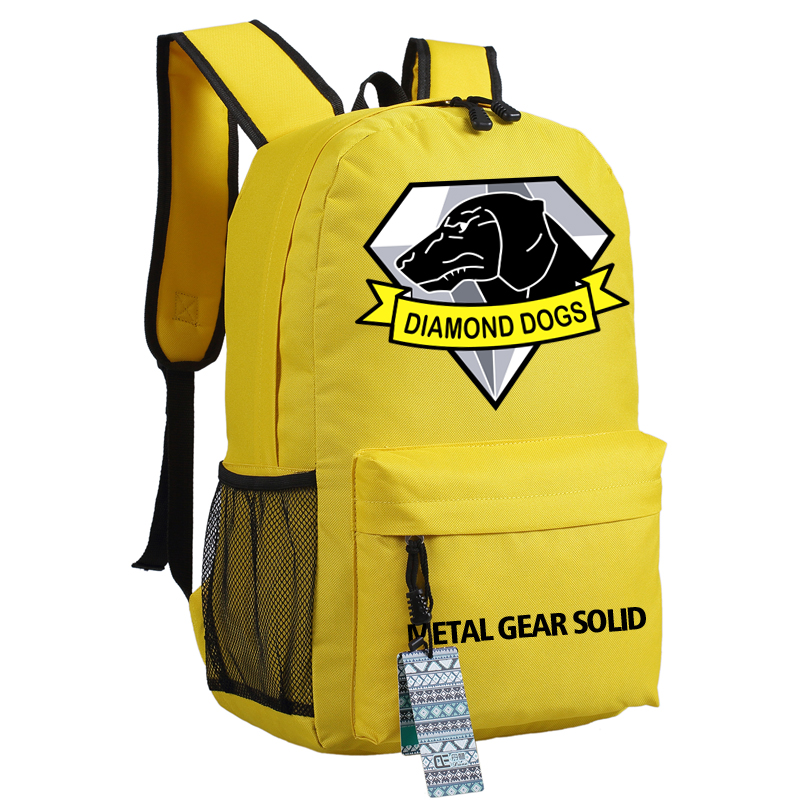 2017 New Metal Gear Solid Canvas Printing Backpack School Bags for ...