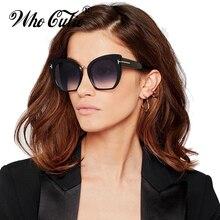 WHO CUTIE 2018 Half Frame Tom Rimless Sunglasses Women Men B
