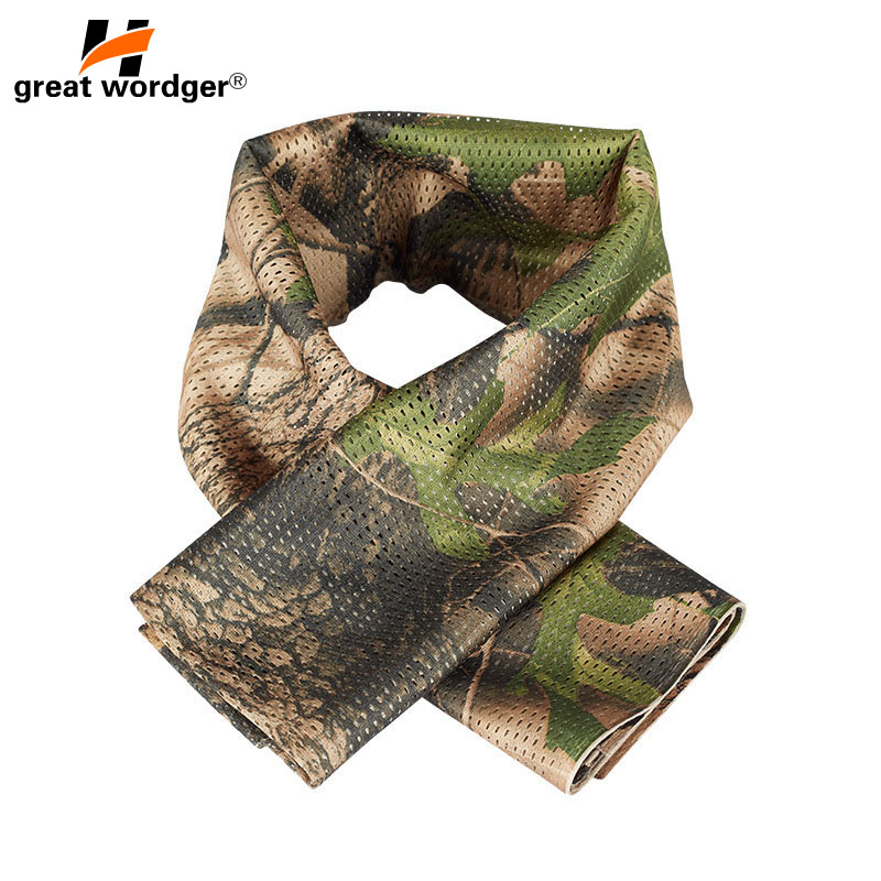 Military Tactical Windproof Camouflage Scarf Men Mesh Anti Dust Army Winter Warm Scarves Men For Hunting Shooting Fishing Scarf