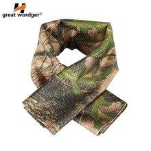 軍事戦術防風迷彩スカーフ男性メッシュアンチダスト軍冬暖かいスカーフ男性狩猟撮影釣りスカーフ
