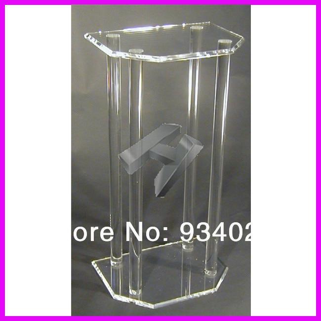 Clear Perspex Dails, Acrylic Organic Glass Church Pulpit Lectern Plexiglass