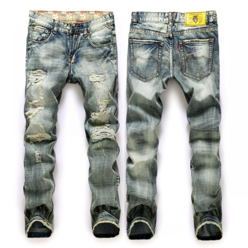 Italy Famous Men's Jeans New Brand Robin Jeans Wear white straight men ripped denim jeans mens slim fit Free shipping 2017 fashion patch jeans men slim straight denim jeans ripped trousers new famous brand biker jeans logo mens zipper jeans 604