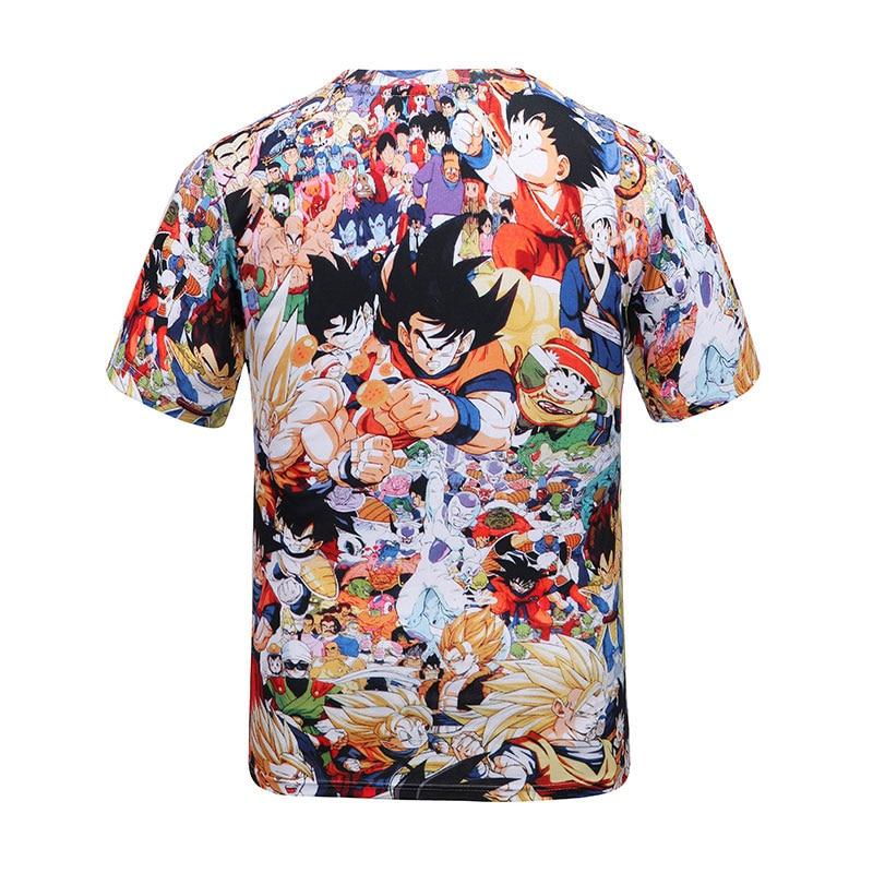 e481316fdb97 2016 Summer Cartoon tshirt Men Women Anime Camiseta Dragon Ball funny Print 3d  t shirt Unisex ...