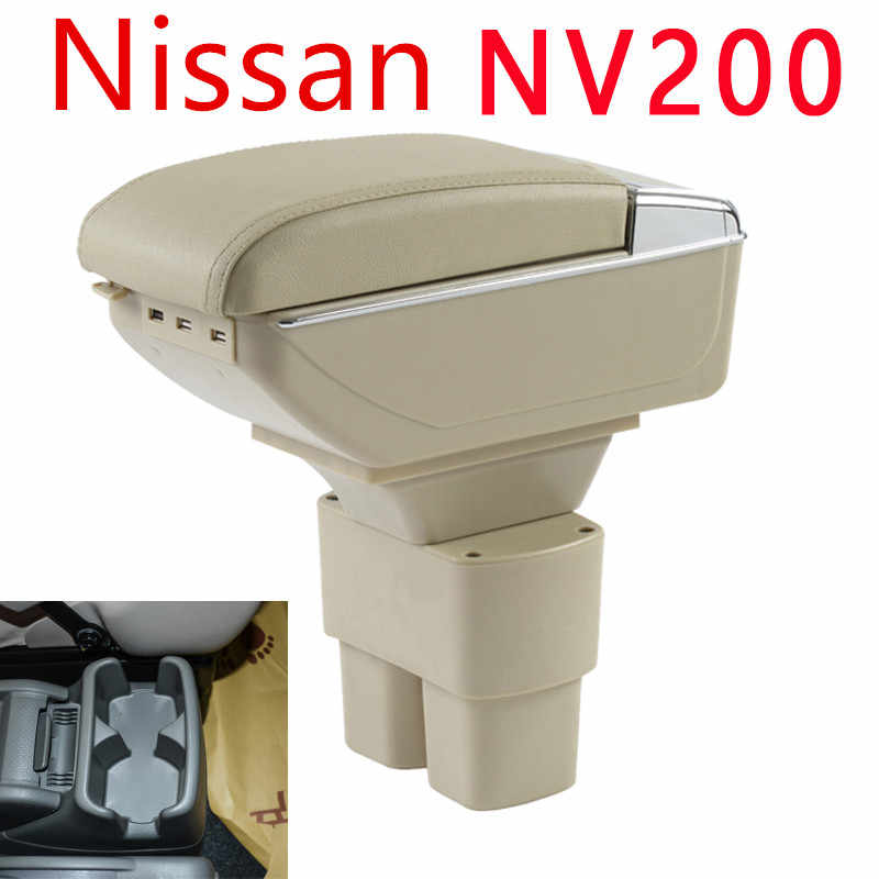 Car Armrest Box Case For Nissan NV200 2010-2017 Armrest Central Store Content Storage Box With Cup Holder Ashtray