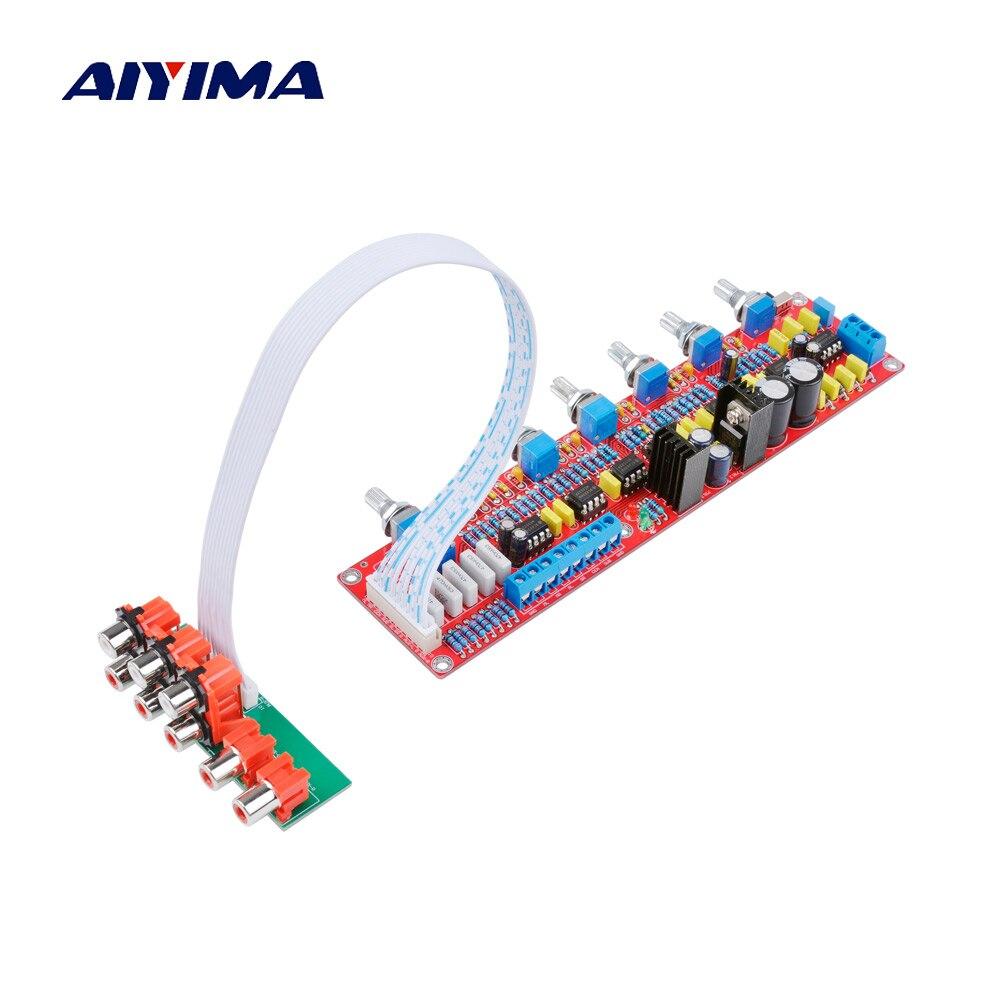 AIYIMA NE5532 5,1 тональная плата предварительного усилителя HIFI 5,1 преампер регулятор громкости Tone EQ DIY для 5,1 усилителей