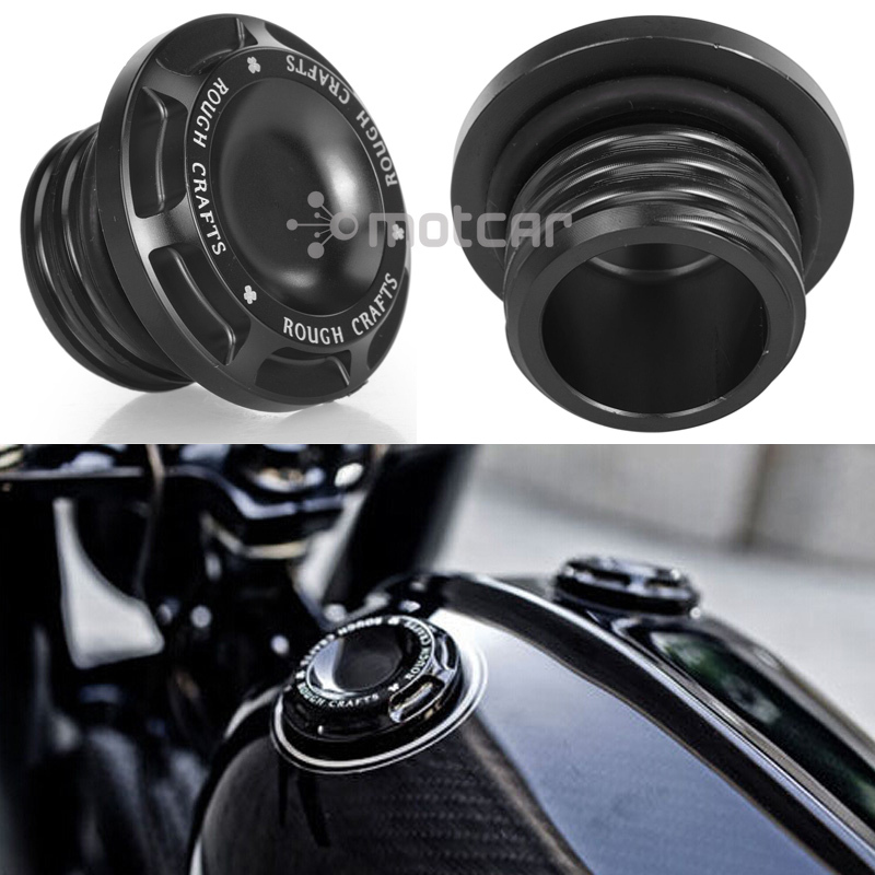 1pcs Black Motorcycle Pure Manual CNC Rough Crafts Aluminum Fuel Gas Oil Cap For Harley Sportster Dyna Touring Softail 1996-2014 e cap aluminum 16v 22 2200uf electrolytic capacitors pack for diy project white 9 x 10 pcs